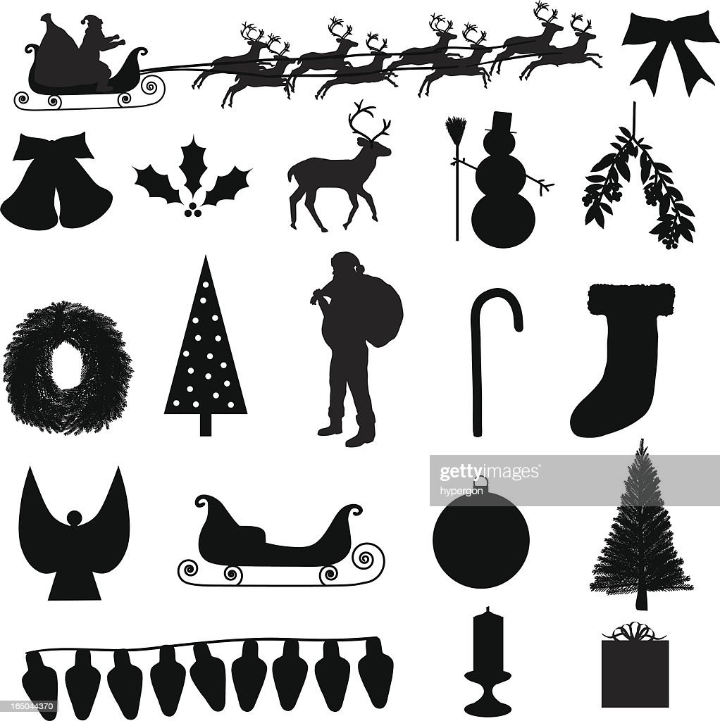 Christmas Silhouette Collection (vector + jpg)