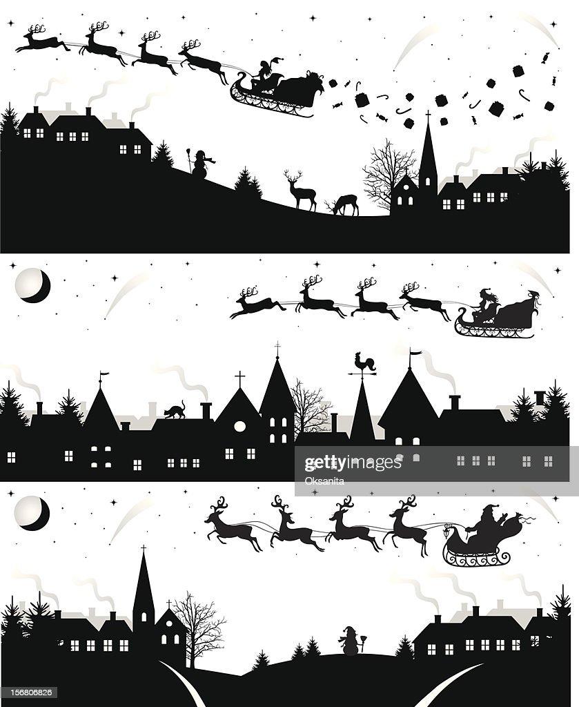Christmas silhouettes.