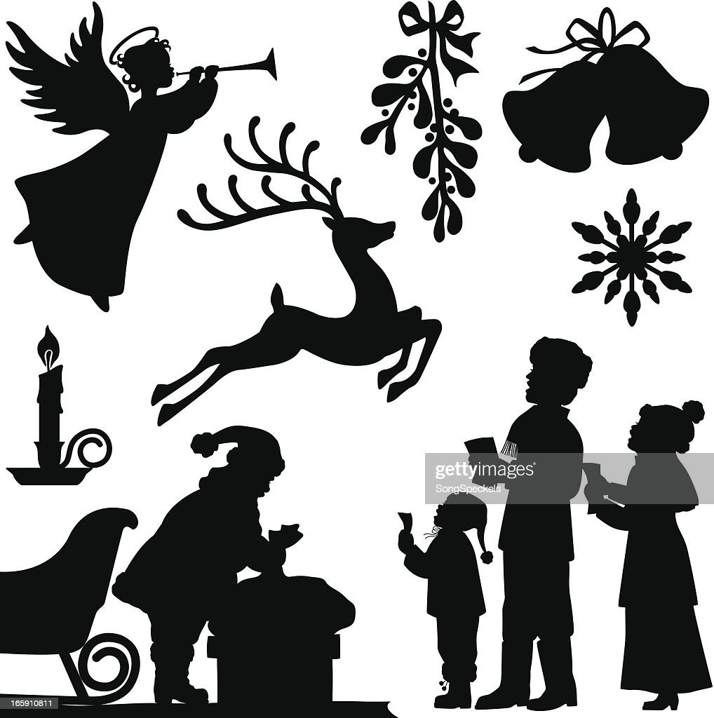 Christmas Silhouettes : stock illustration