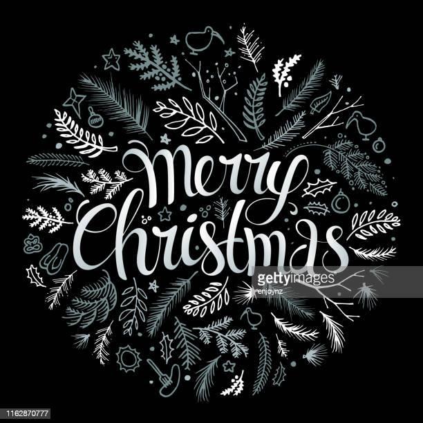 nzクリスマススケッチベクトル - リース点のイラスト素材/クリップアート素材/マンガ素材/アイコン素材