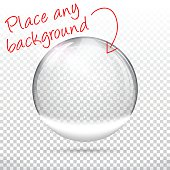 Christmas snow globe for design - Blank Background