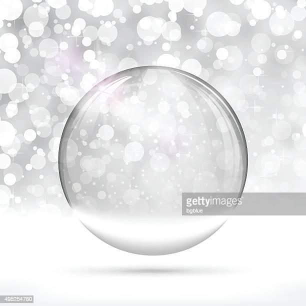 ilustrações, clipart, desenhos animados e ícones de globo de neve de natal - glazed food