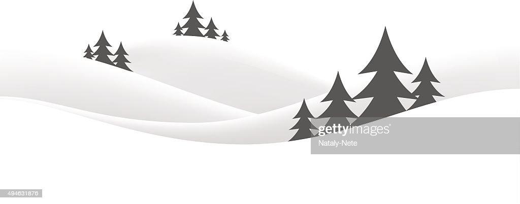 christmas snow hills