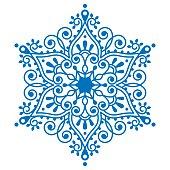 Christmas snowflake design, winter embroidery