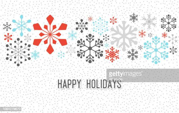 christmas snowflake pattern - winter stock illustrations