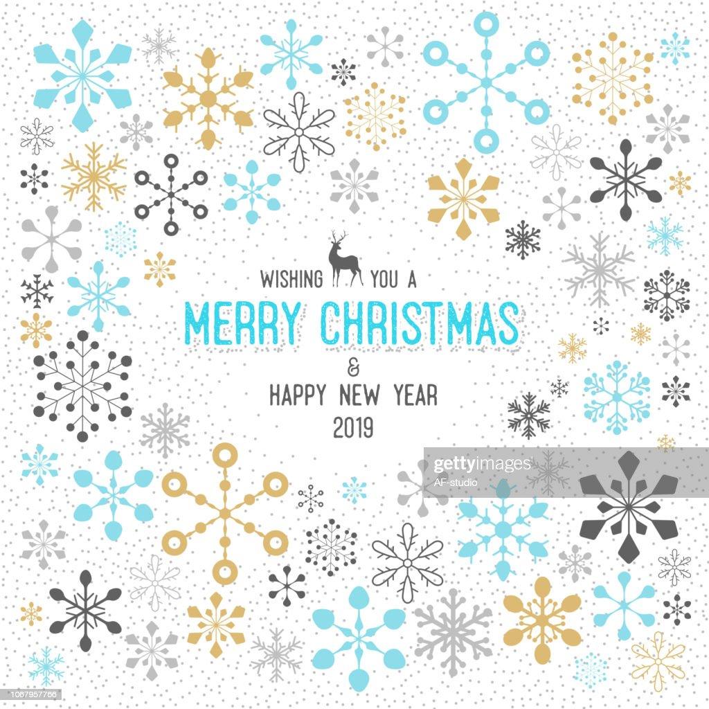 Christmas Snowflake Pattern : stock vector