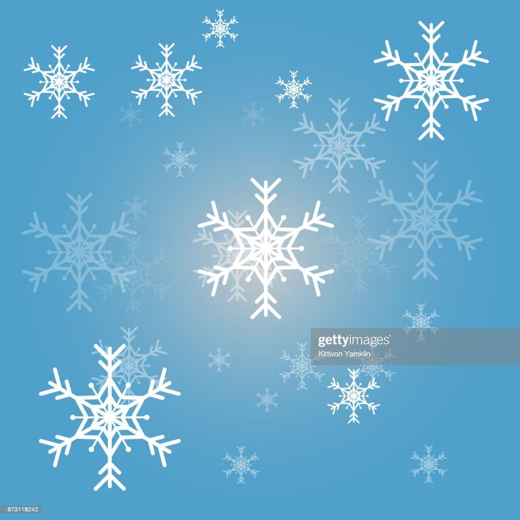 Weihnachten Schneeflocken Blauen Hintergrund Vektor Illustion ...