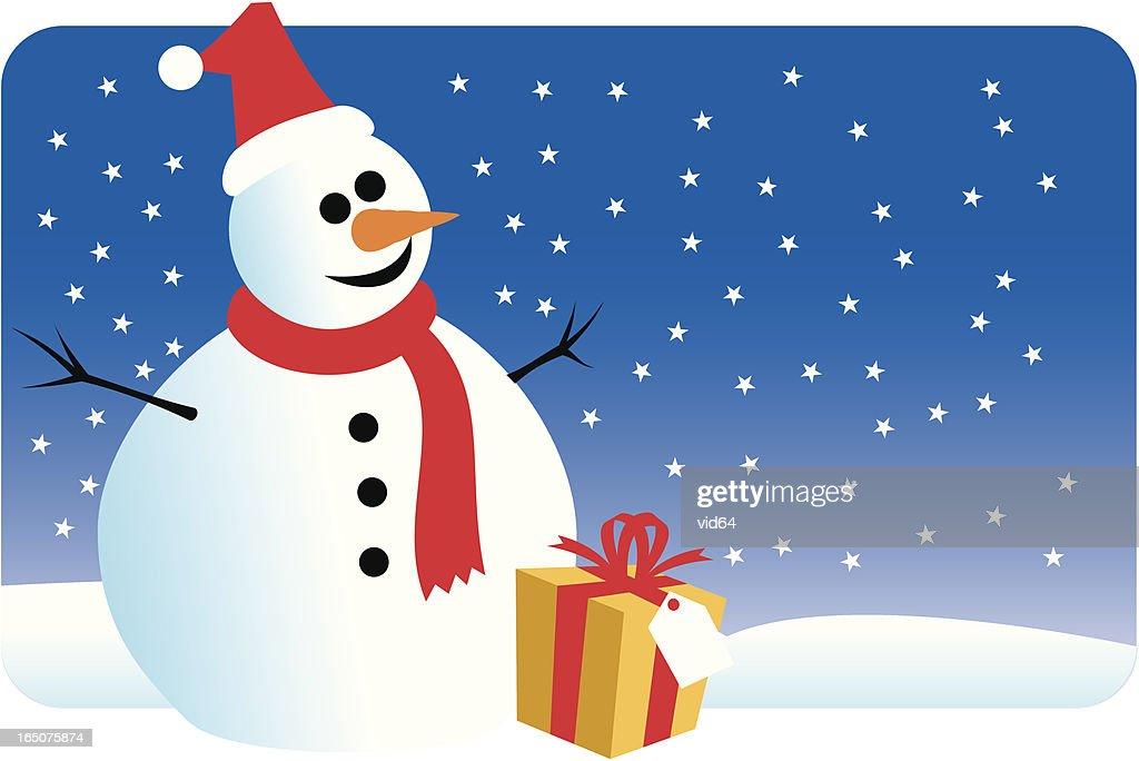 Weihnachten Schneemann Vektorgrafik | Getty Images