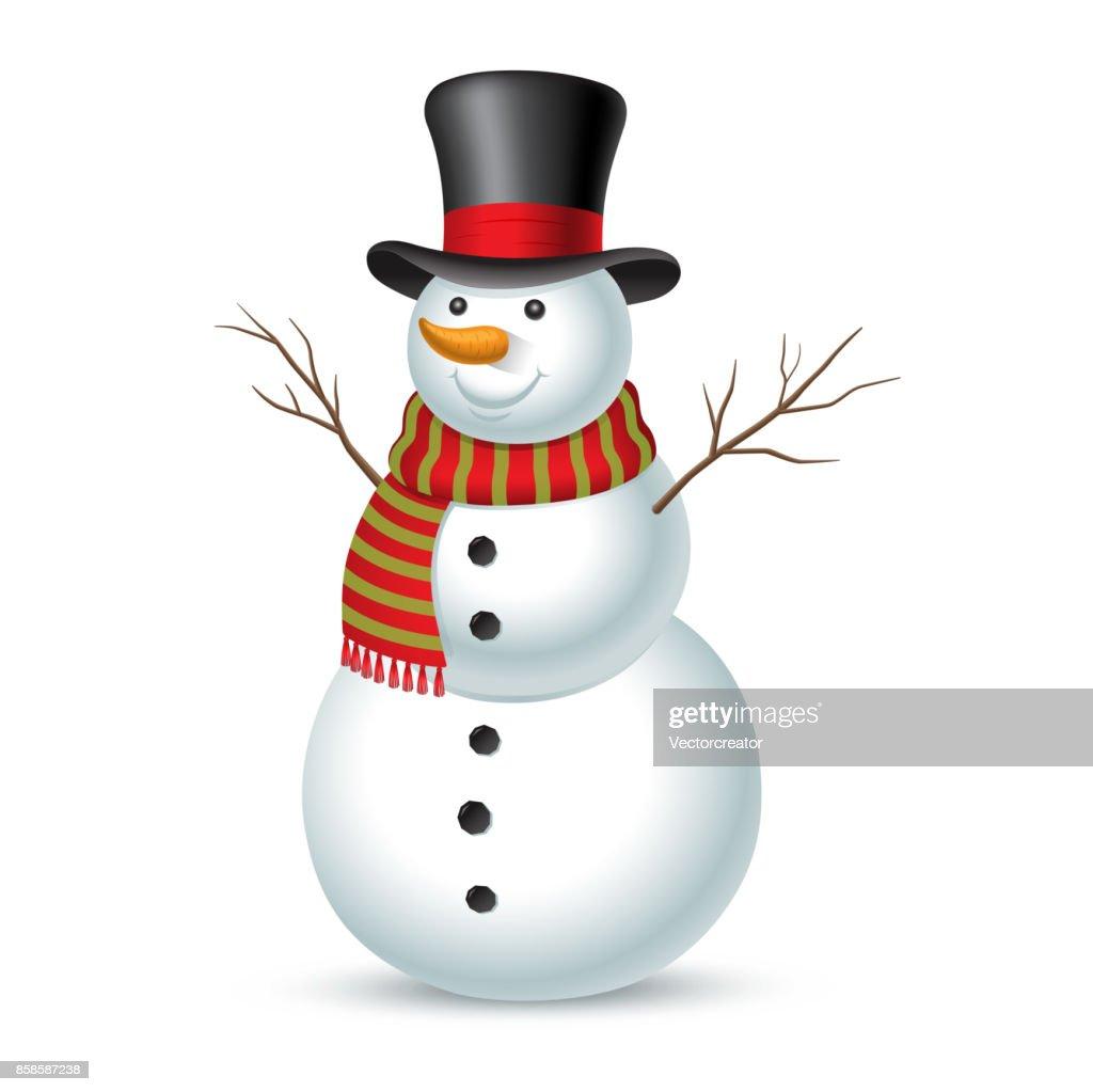 Christmas snowman. Vector illustration