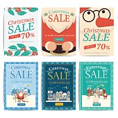 Christmas social media sale banners for mobile website ad