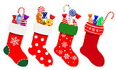 Christmas socks with candies