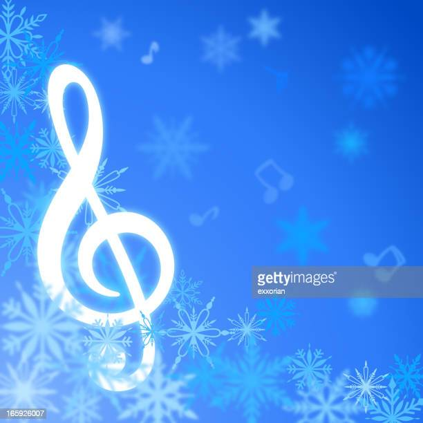 christmas song - treble clef stock illustrations, clip art, cartoons, & icons