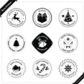 Christmas stamps and badges