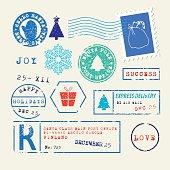 Christmas stamps set