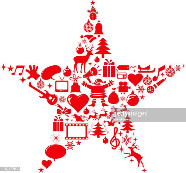christmas star shapes - gift tag note stock illustrations, clip art, cartoons, & icons