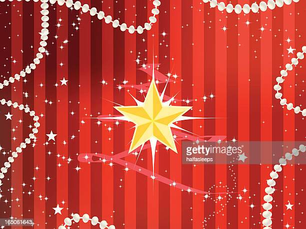 Christmas Star Striped Background