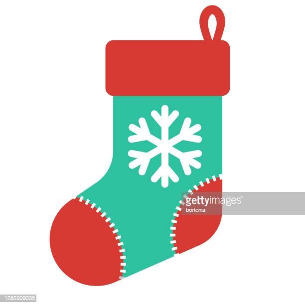 透明な背景にクリスマスのストッキングアイコン - パンティストッキング点のイラスト素材/クリップアート素材/マンガ素材/アイコン素材