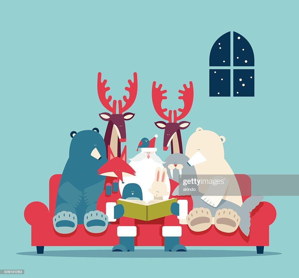 Christmas stories : stock illustration