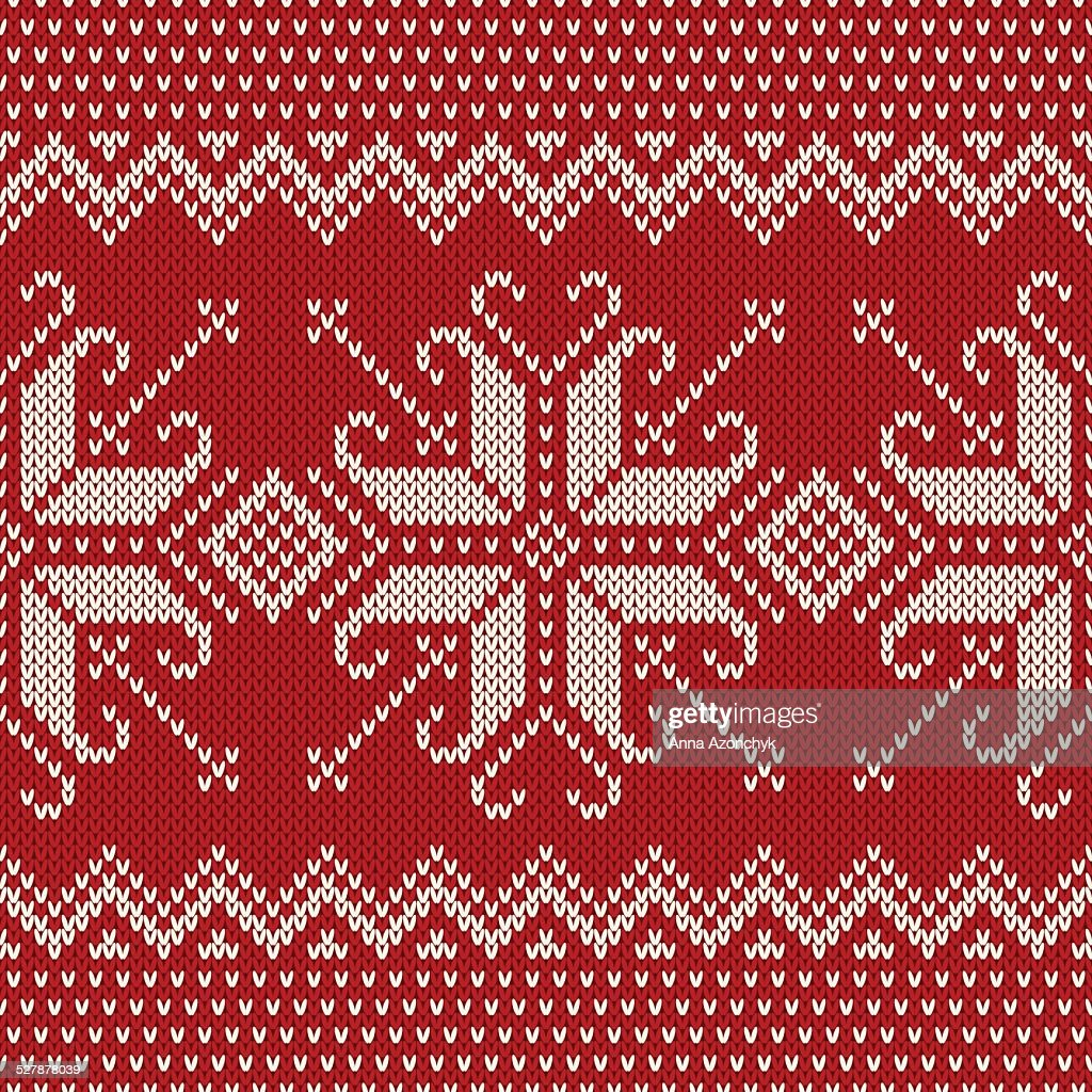 520f704e7e41 Christmas Sweater Design Seamless Knitted Pattern With Snowflak ...