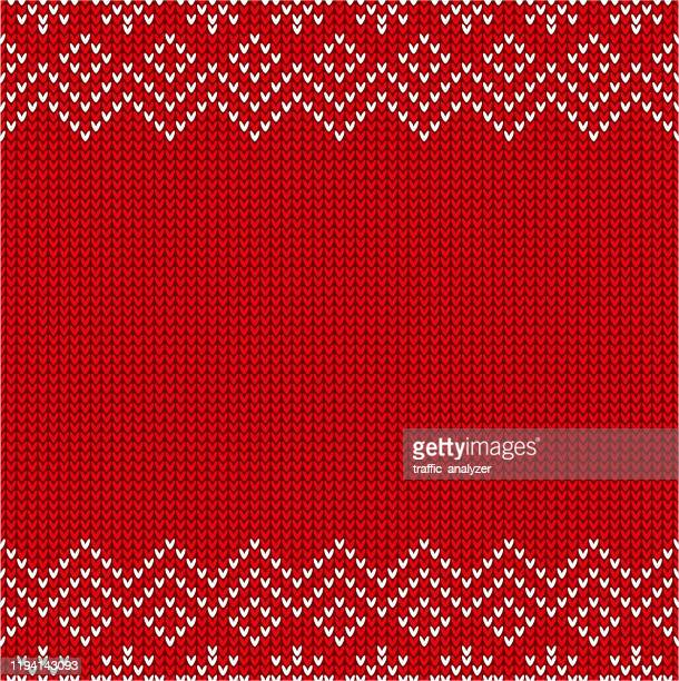 christmas sweater pattern - jumper stock illustrations