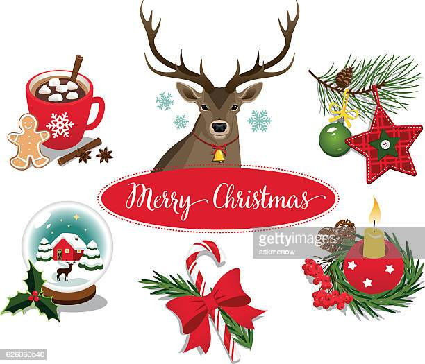 Christmas symbols and decorations