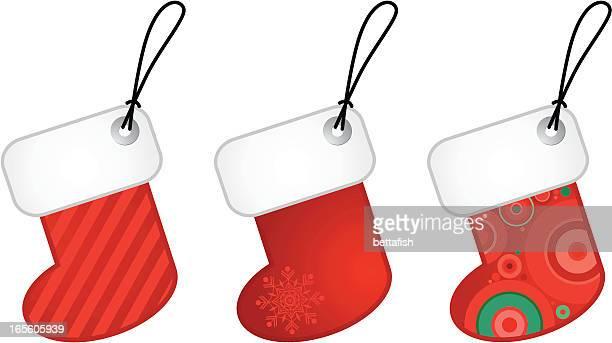 クリスマスのタグのソックスが