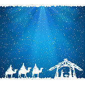 Christmas theme on blue background