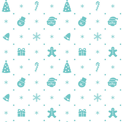 Christmas themed silhouette icon seamless pattern - gettyimageskorea