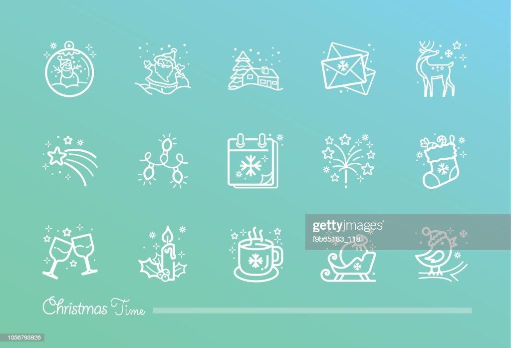 Christmas Time icon set