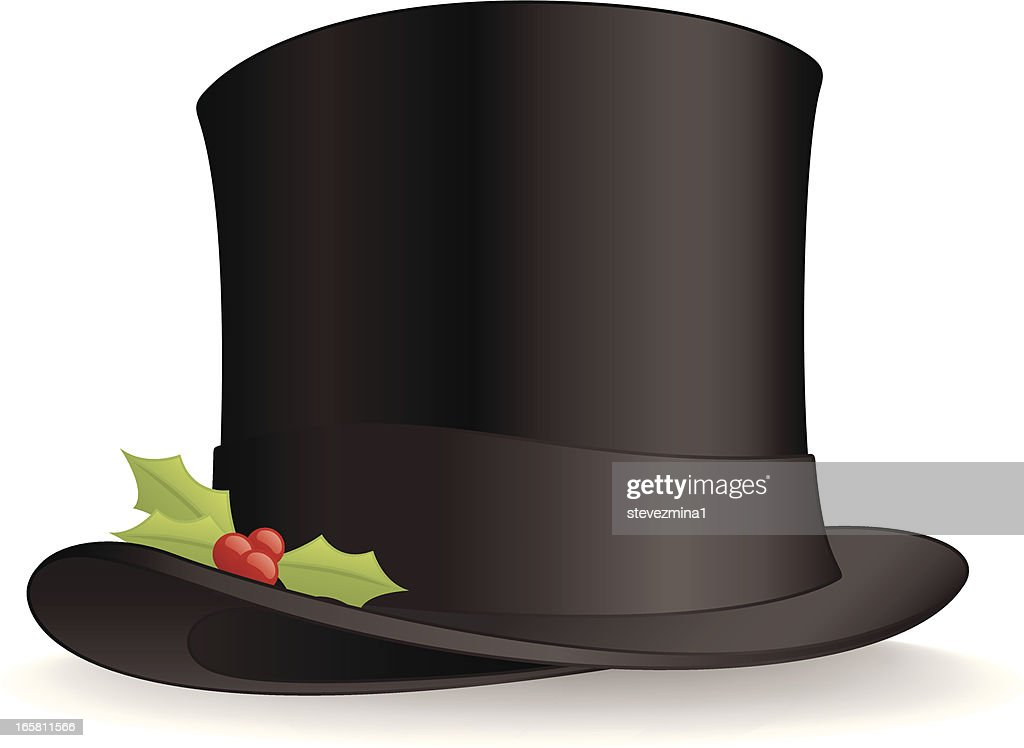 christmas top hat vector art