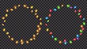 Christmas translucent fairy lights ring shaped