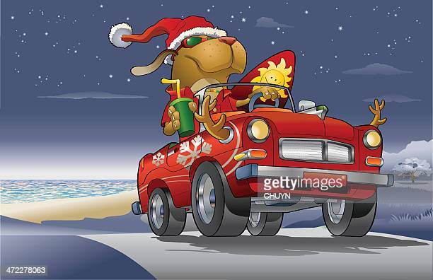 christmas travel - christmas travel stock illustrations, clip art, cartoons, & icons