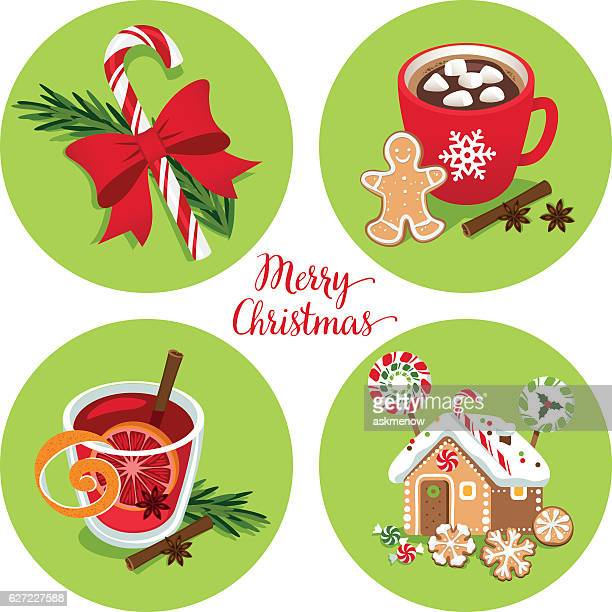 christmas treats - mulled wine stock illustrations, clip art, cartoons, & icons