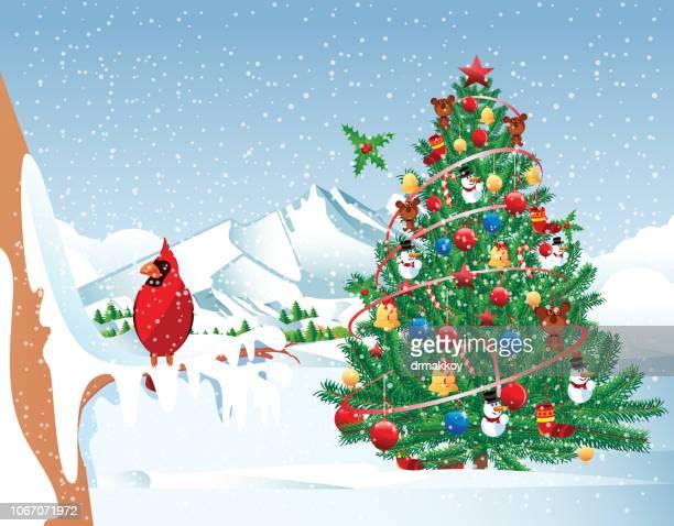 Weihnachtsbaum und Kardinal Vogel