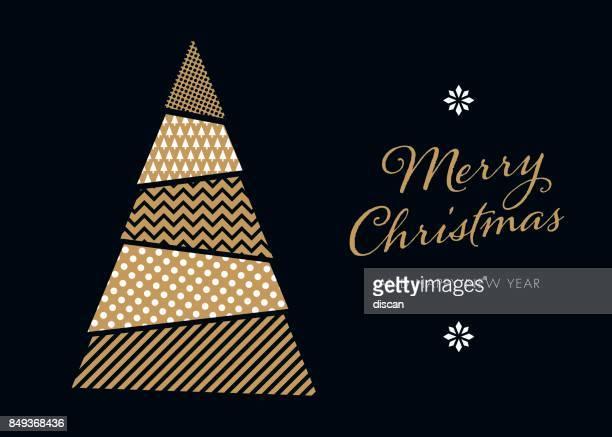 Weihnachtsbaum im Hintergrund