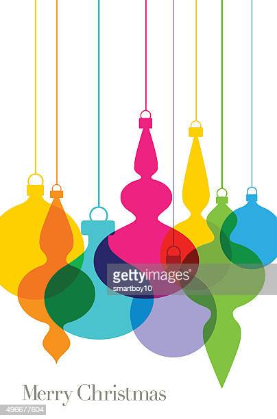 Christmas tree baubles Greeting