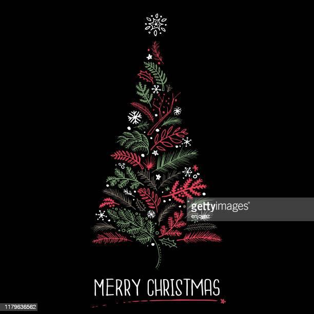 クリスマスツリーカード - クリスマスマーケット点のイラスト素材/クリップアート素材/マンガ素材/アイコン素材