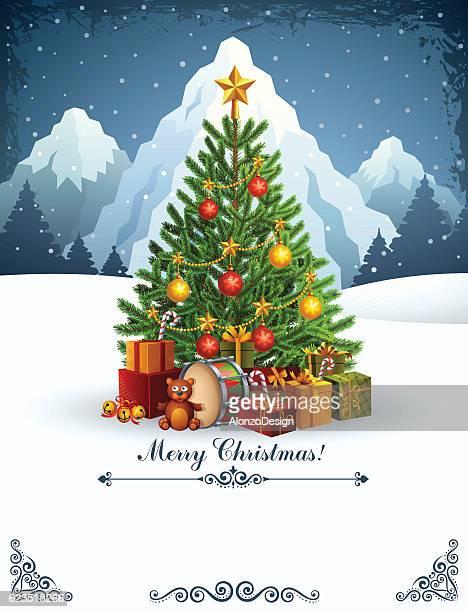 Carte de sapin de Noël