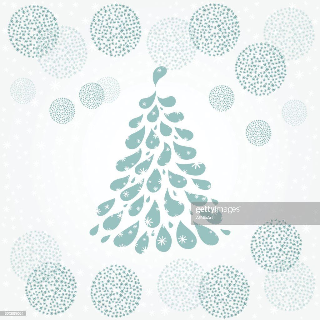 christmas and new year background holiday card template blue winter background