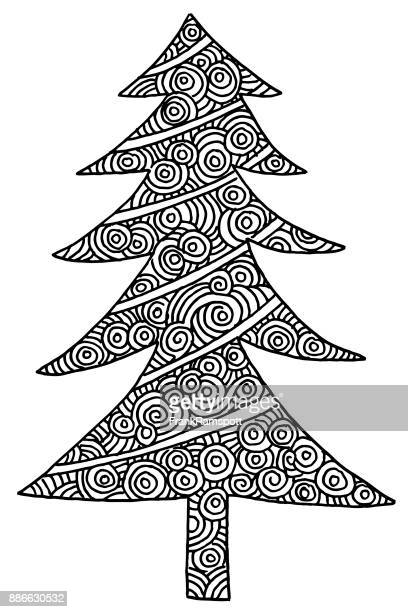Christmas Tree Coloring Picture Drawing