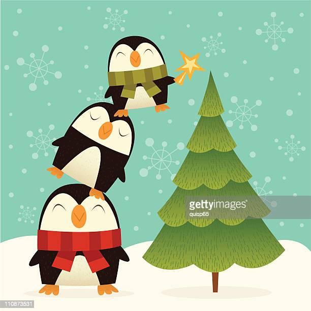 ilustraciones, imágenes clip art, dibujos animados e iconos de stock de árbol de navidad decorators - decorar
