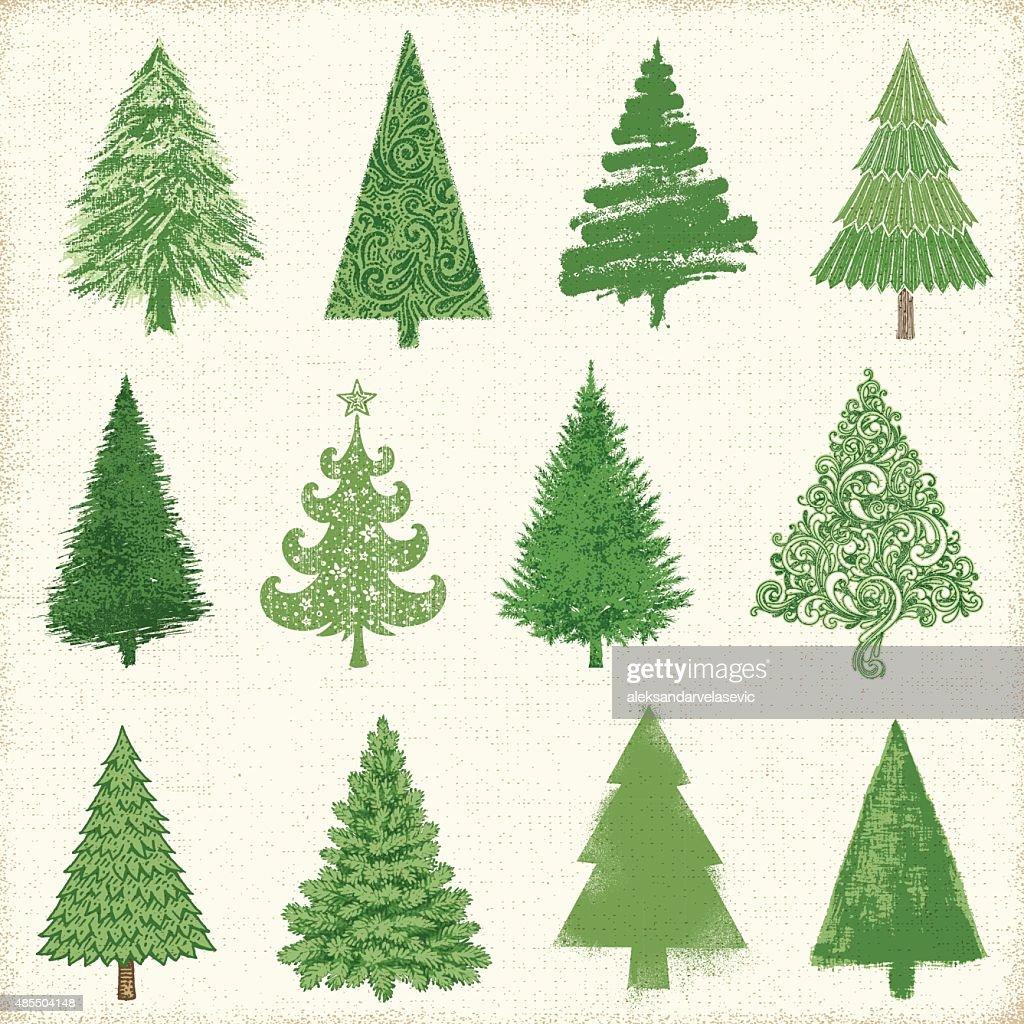 christmas tree drawings vector art - Tree Drawings