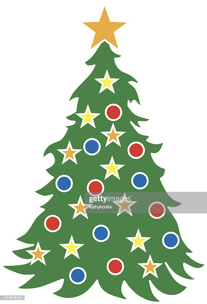 Ic ne de sapin de no l clipart vectoriel getty images - Clipart sapin de noel ...