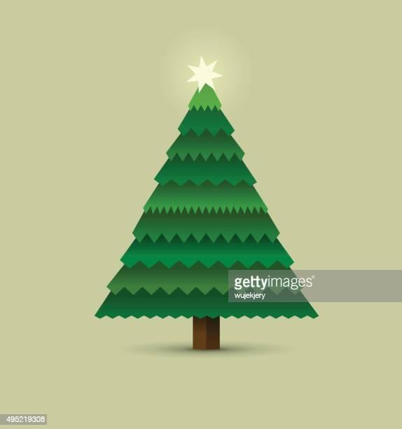 Weihnachtsbaum-Illustration