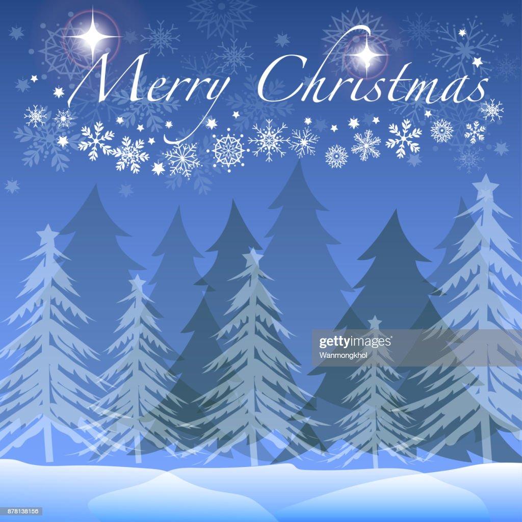 Weihnachtsbaum Im Winter Wald Vektor Und Illustration Mit Schneeball ...
