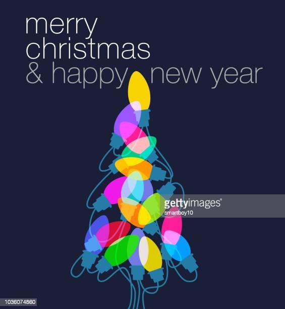 weihnachtsbaum lichter gruß - vertikal stock-grafiken, -clipart, -cartoons und -symbole