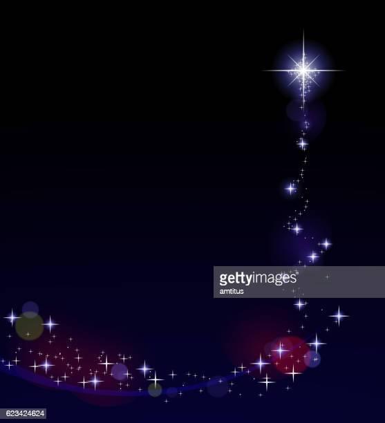 christmas tree of lights - tall high stock illustrations