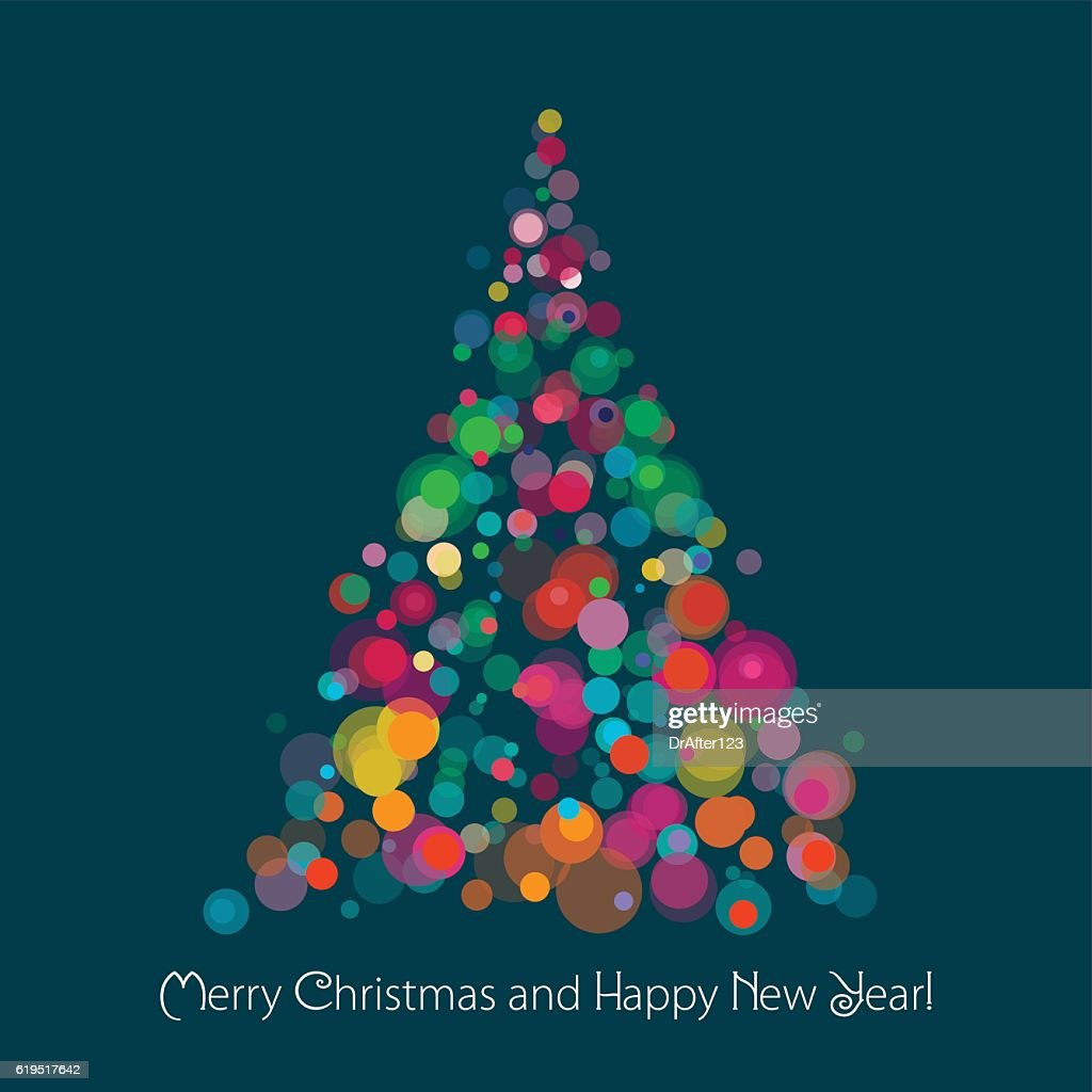 Christmas Tree On Dark Background