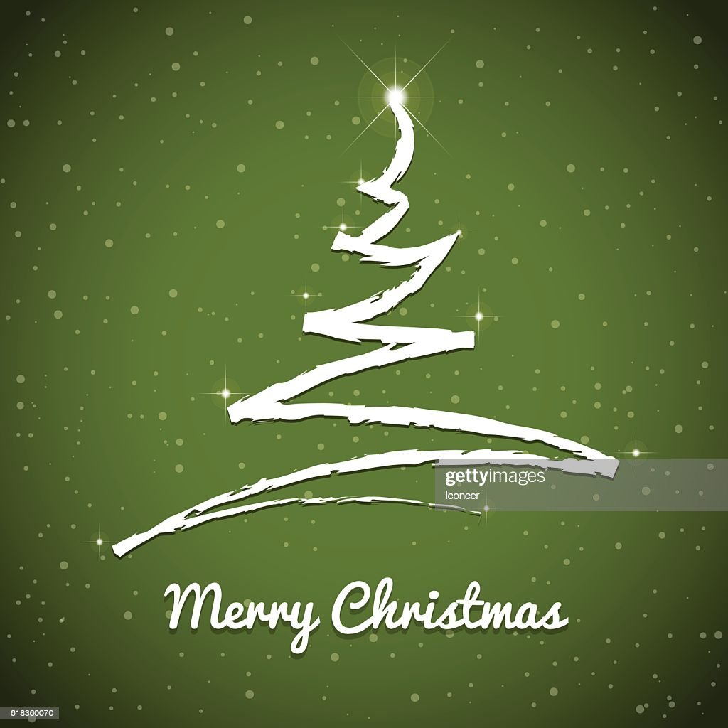 christmas tree on forest green background with merry christmas banner high res vector graphic getty images https www gettyimages com detail illustration christmas tree on forest green background royalty free illustration 618360070