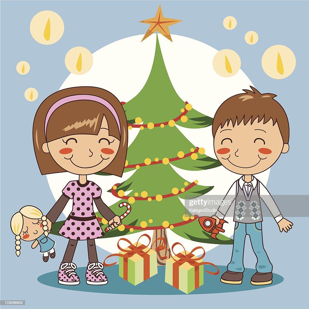 Tannenarten Weihnachtsbaum.Weihnachtsbaum Geschenke Vektorgrafik Getty Images